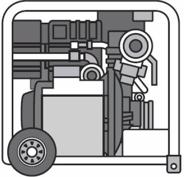 Moto-Bomba Ligeira Diesel S.I. LDA 600