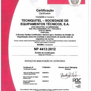 Certificação NP 4413:2012