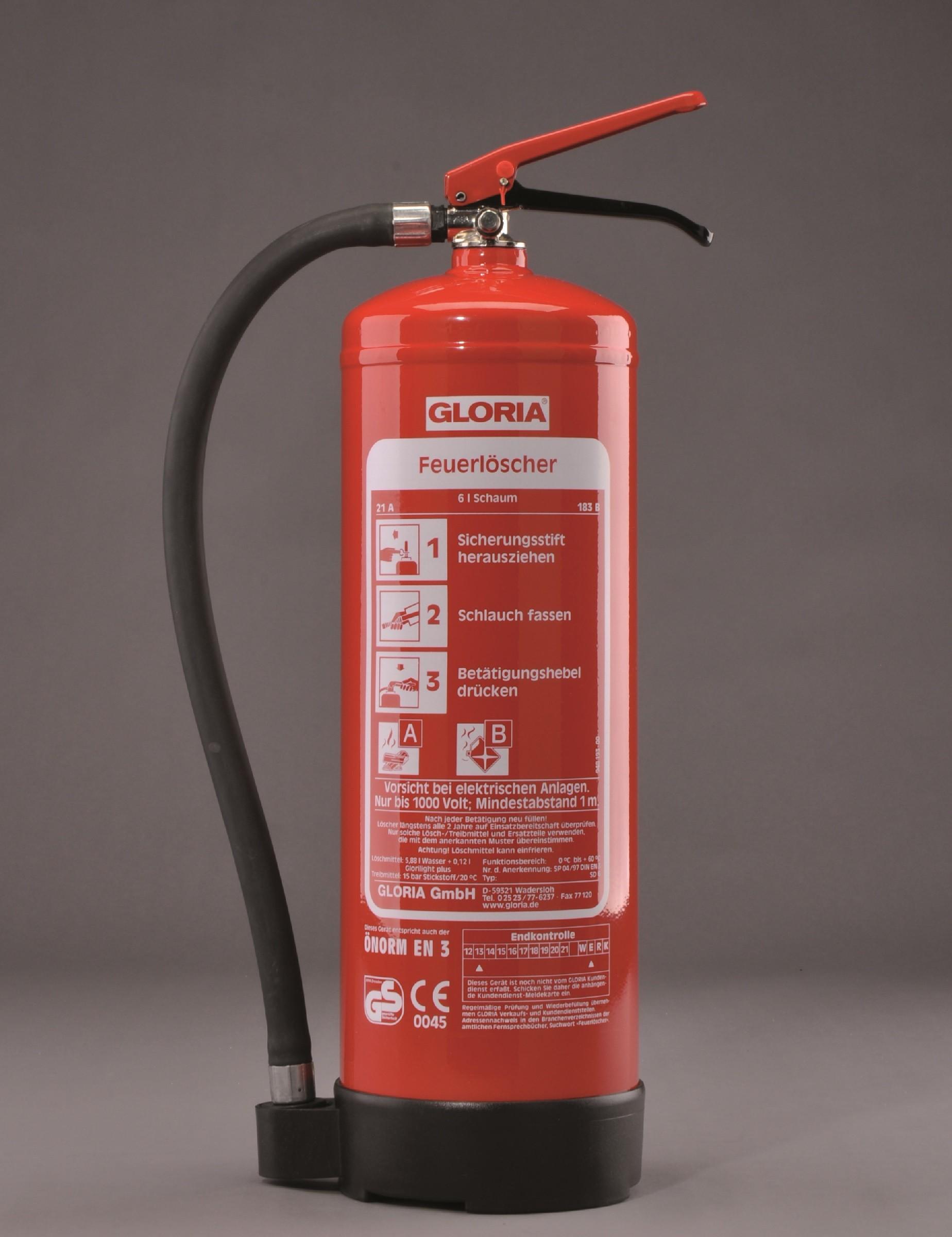 Extintor Água + Espuma Gloria SD6/SD9
